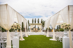 Stunning Indian ceremony wedding aisle decor.
