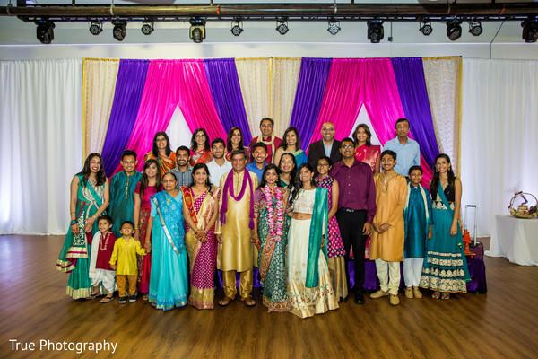 Joyful Sangeet family portrait.