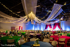 Marvelous Indian wedding sangeet lights decor.