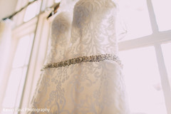 Gown hanging ready to be used by Maharani