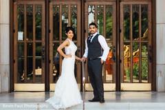 Indian bride and groom looking sharp
