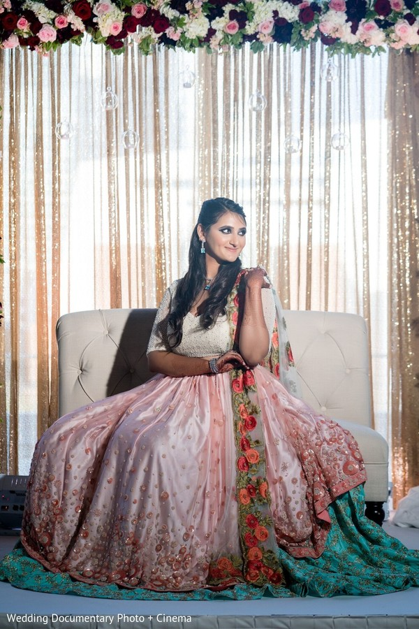 Stunning bride posing for pictures