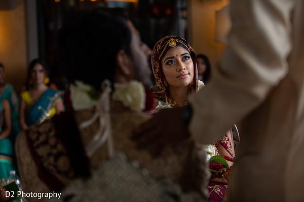 Sweet capture of Indian wedding ceremony.