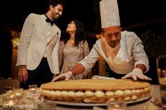 Indian wedding Italian cake capture.