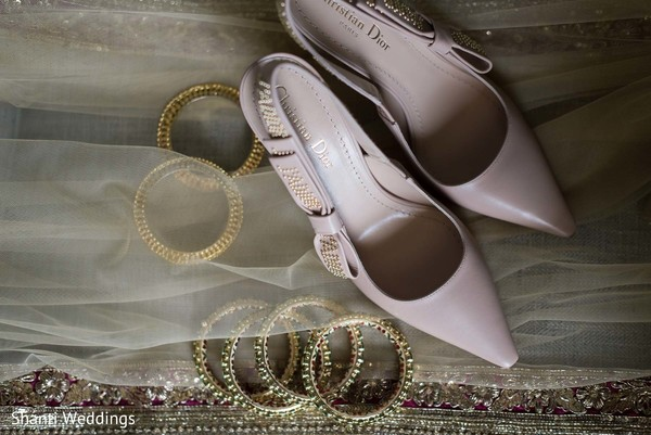 Shoes and jewelry of Maharani