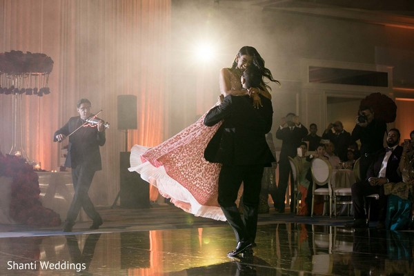 Lovely shot of Indian bride dancing