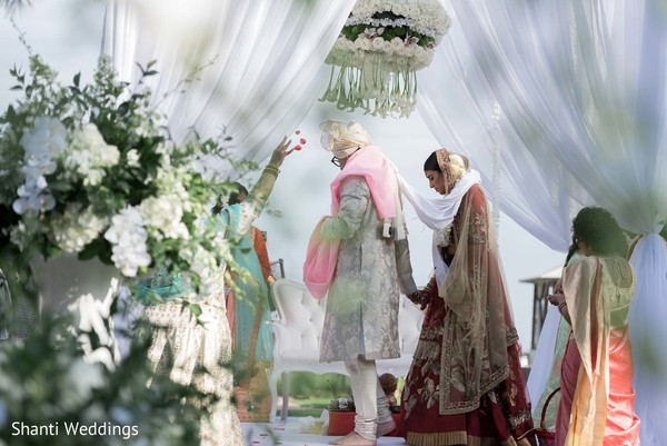 Raja and Maharani during the nuptials