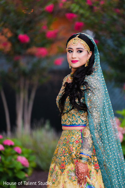 Indian bride wearing the traditional lengha