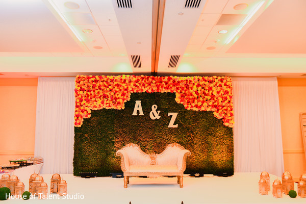 Indian bride and groom's stage decor