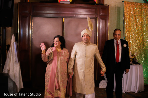 Indian groom making his entrance with his family