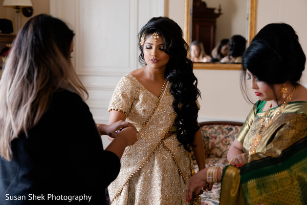 Maharani getting ready for her ceremony.