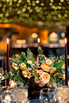 Marvelous Indian wedding flowers and candle lights decoration.