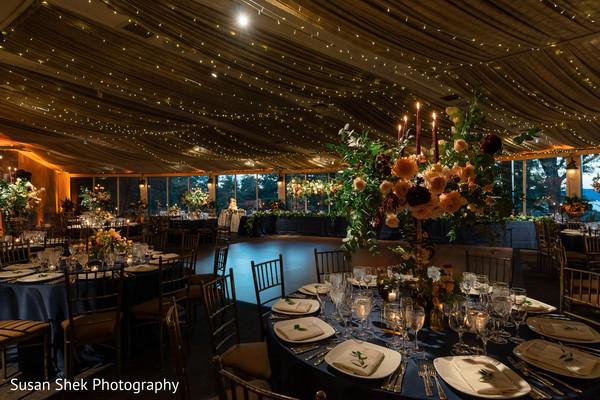 Unique Indian wedding reception table decor.