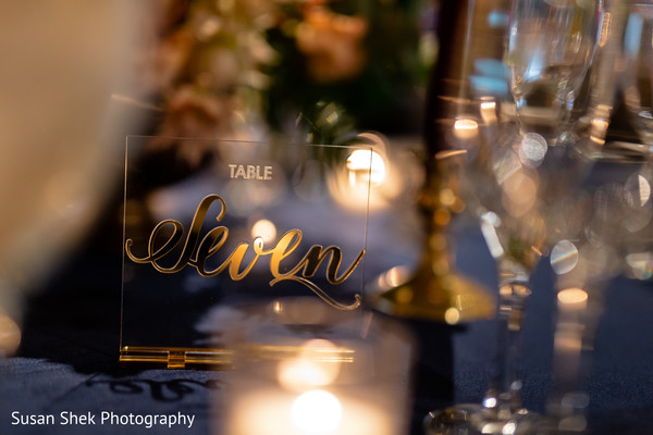 Marvelous Indian wedding table number decor.