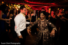 Indian lovebirds reception upbeat dance.