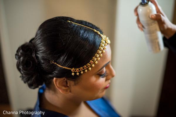 Flawless indian bridal hair