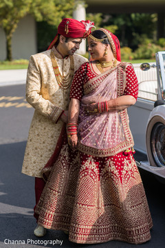 Beautiful indian couple posing for the camera