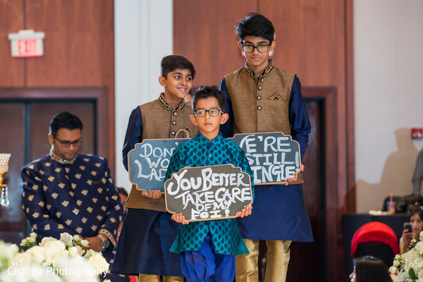 Indian wedding entrance