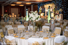 Indian wedding reception table centerpieces