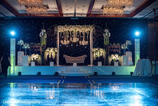 lighting,indian wedding reception,wedding design