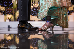 Indian couple reception fashion