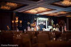 Indian wedding reception ballroom decor