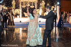 Indian couple having their first dance