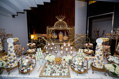 Impressive indian wedding dessert station
