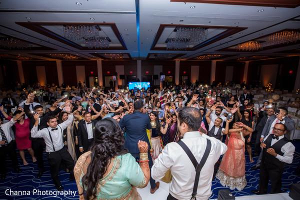 Energetic indian wedding party