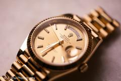 Close up of Raja's watch