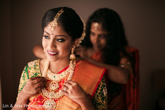 Maharani getting ready with jewelry