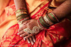 Indian bride's mehndi design