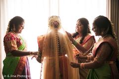 Maharani and bridesmaids getting ready