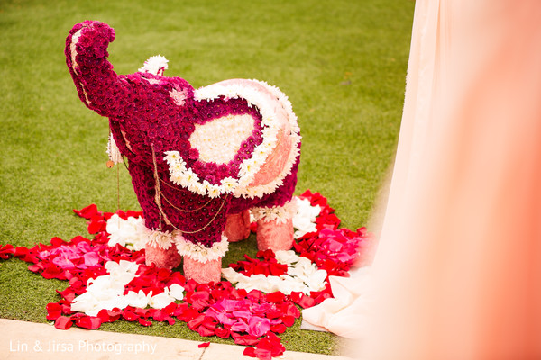 indian wedding,venue,details,elephants