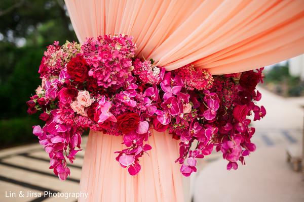 Amazing floral arrangement design decorating the mandap