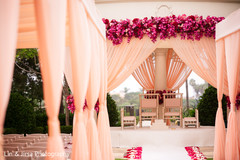 Colorful draping of the ceremony