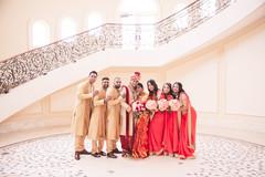 Fun capture of the groomsmen and bridesmaids