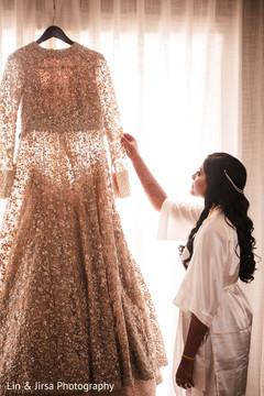 Maharani admiring her gown