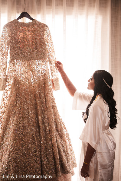 Maharani admiring her gown