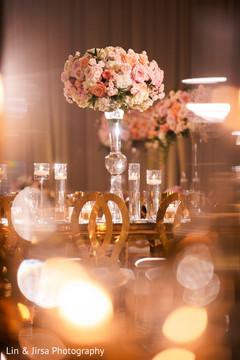 Floral design details of the reception