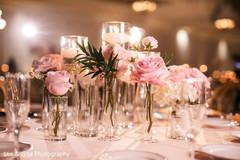 Floral arrangement details of the wedding