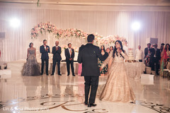 Indian bride and groom's first dance