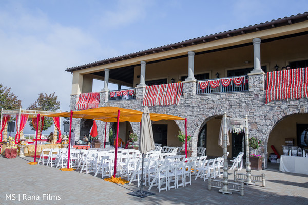 Outdoor indian fusion wedding