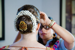 Lovely indian bride hairstyle