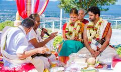 Lovebirds during indian wedding ceremony