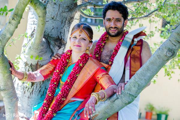 Candid indian couple portrait