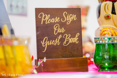 Indian wedding guest book sign