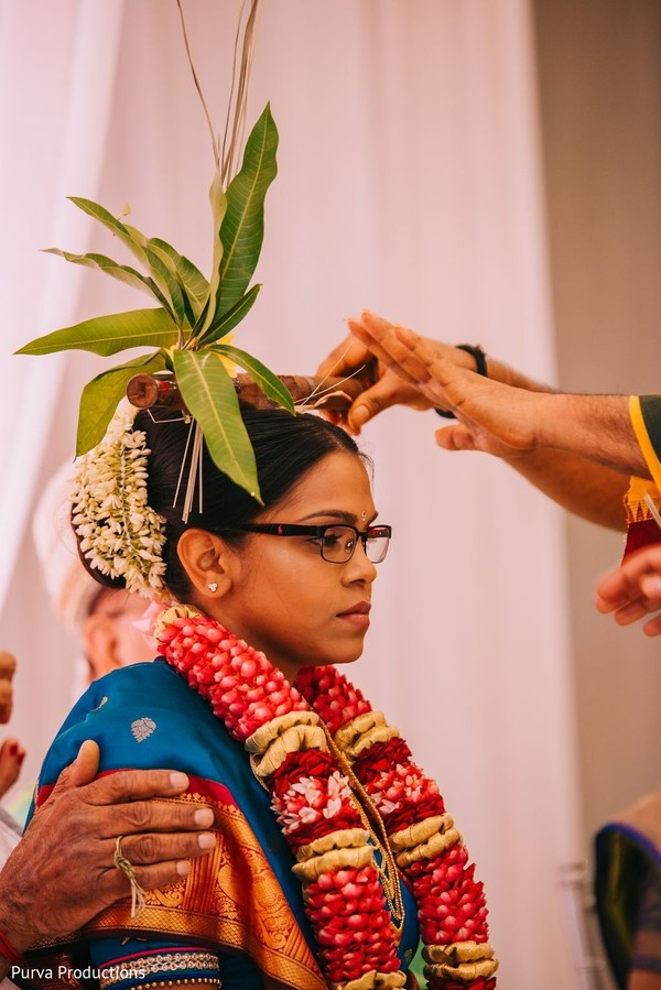 Maharani at her ceremony ritual capture.