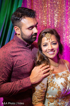Indian bride and groom during the photo session