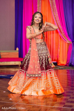 Indian bride performing a choreography